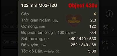 Hoả lực của object 430u World of tank