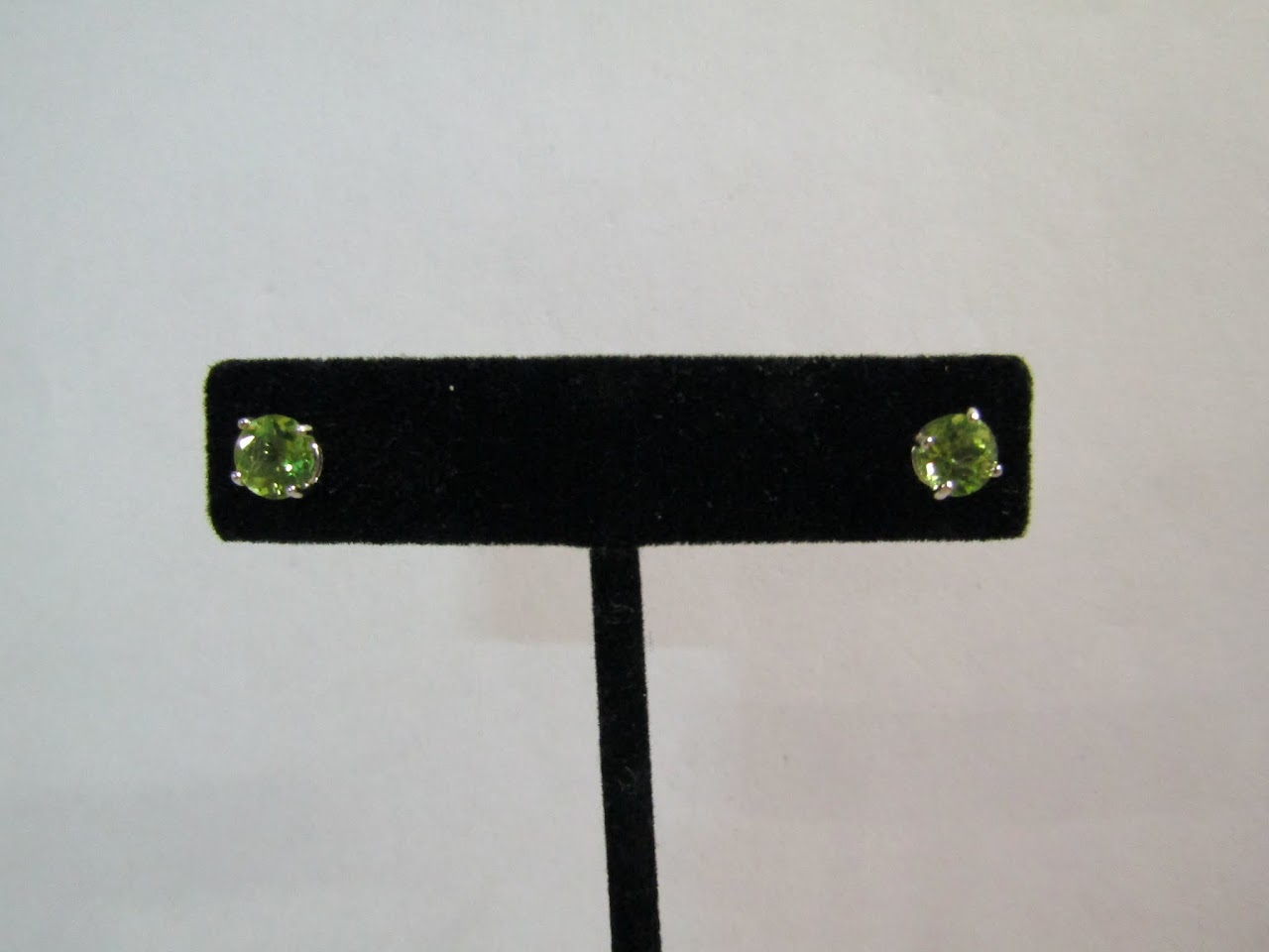 Sterling Silver & Glass Studs