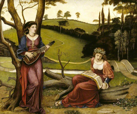 John Roddam Spencer Stanhope - The Gentle Music of a Bygone Day, 1873