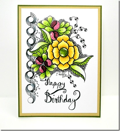 In A World Of Craft Birthday Card Original Art