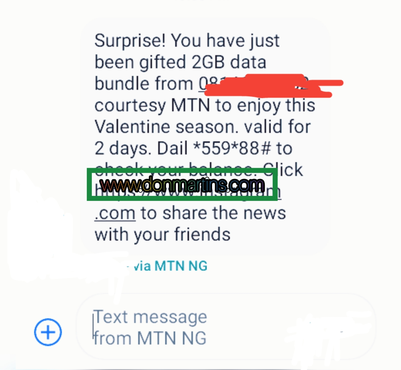 alert from my mtn app