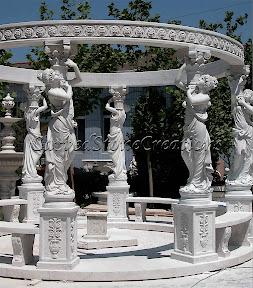 Exterior, Gazebo, Gazebos, Ideas, Landscape Decor, Statue
