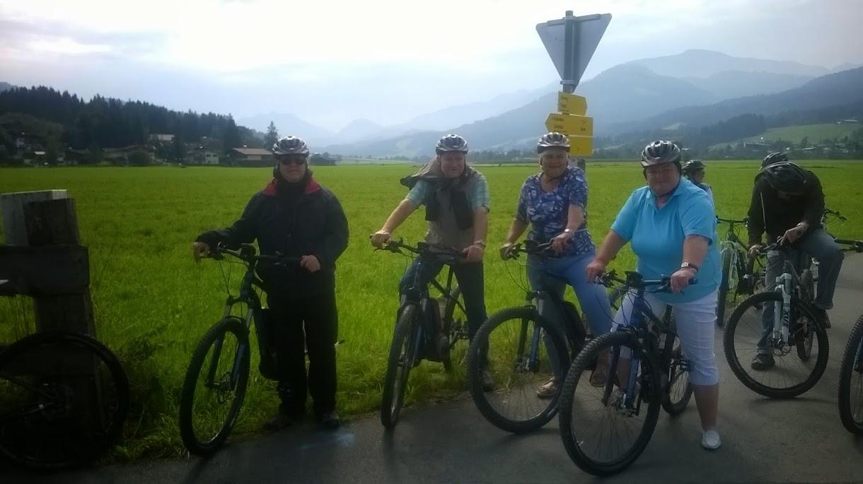 Mountainbiking mit Reisebüro-Kollegen