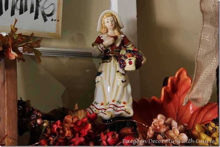 Thanksgiving Pilgrims on Mantel
