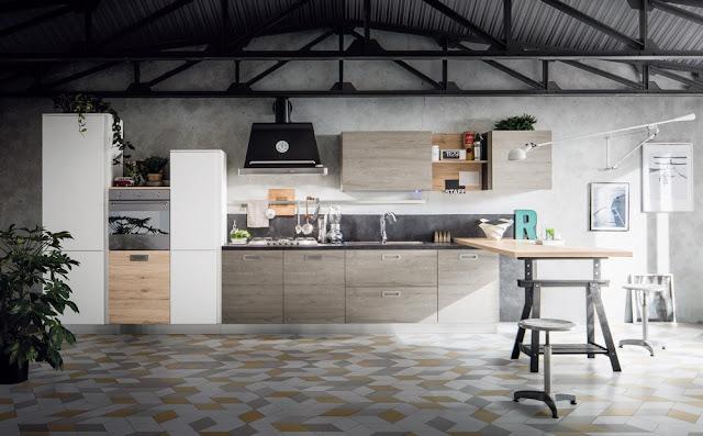 Una cucina stile industriale dal sapore retrò - BLOG ARREDAMENTO