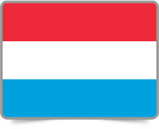 Luxembourgish framed flag icons with box shadow