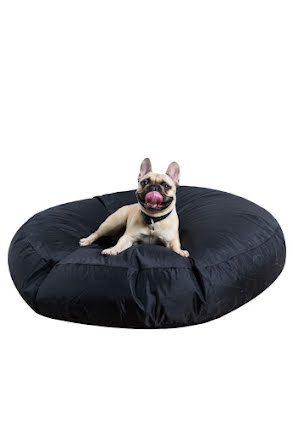 Slack sack utomhus till hunden, svart