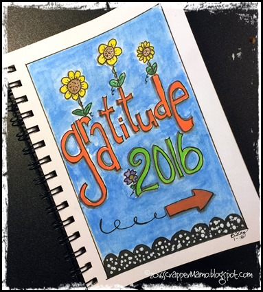Cover Page for Gratitude Journal 2016