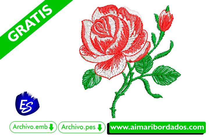 Picaje de rosas bordar a máquina DESCARGA GRATIS