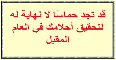 """❤️ """"قد تجد حماسًا لا نهاية له لتحقيق أحلامك في العام المقبل."""""""