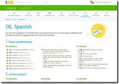 ixl spanish learning screenshot