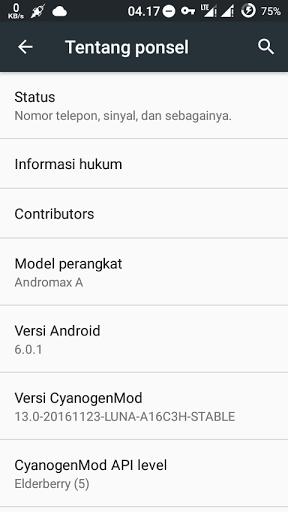Custom ROM Andromax A ROM Luna CM13