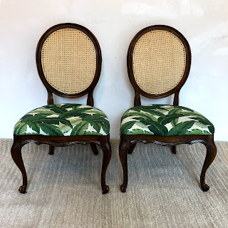Banana Leaf Side Chair Pair