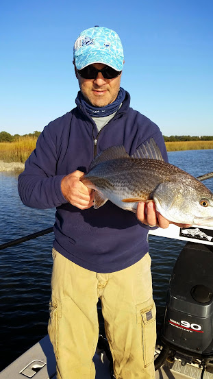 Tim w/ redfish fly fishing Golden Isles