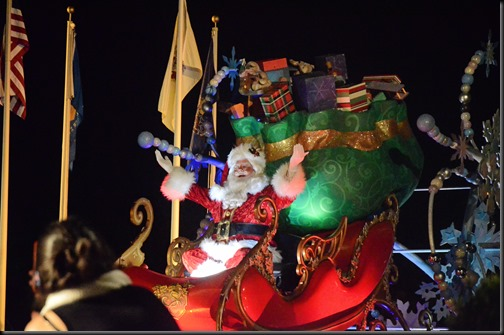 Santa parade at disney