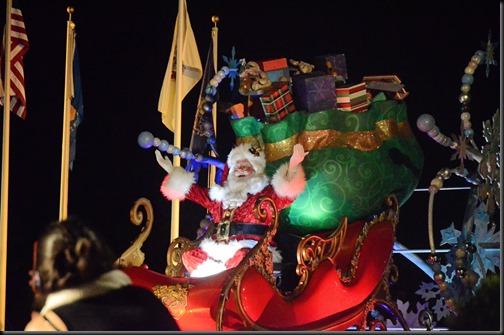 Santa parade at disney