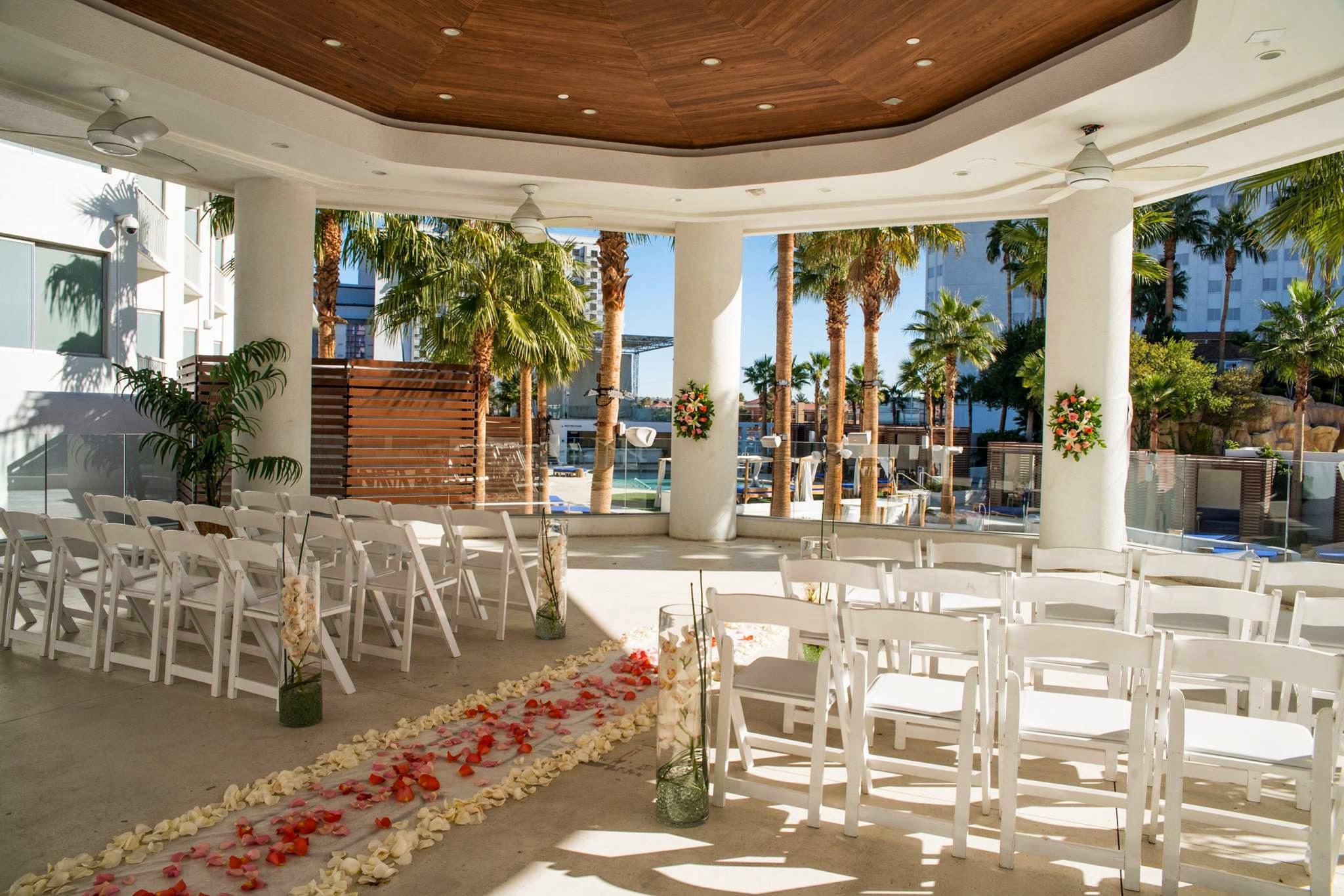 Havana Room And Beach Club Veranda Location At Tropicana Las Vegas Wedding
