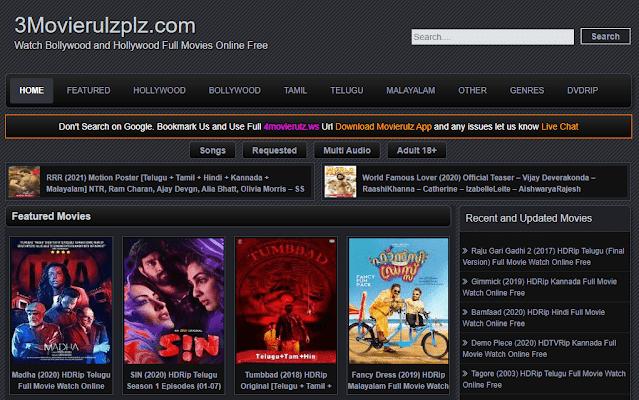 3movierulz 2021- illegal movies downloading website