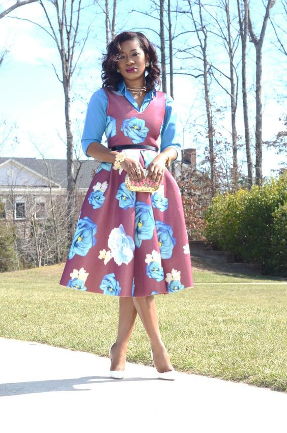 AFRICAN PRINT DRESSES FASHION FOR LADIES 2020 4