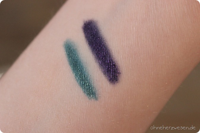 Kiko Midnight Siren cosmic Starlet LE Limited Edition Einkauf Haul Review Swatches Test Double Glam Cream Radiance Highlighter Alluring Sand 115 116 Black Teal Violet Emerald 6