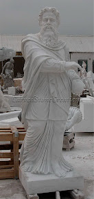 Figure, Interior, Male, Marble, Statues