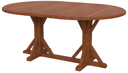 Alexandria Round Conference Table in Itasca Maple