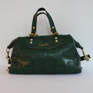 Coach Green Embossed Bag