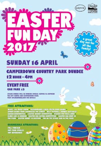 Easter Fun Day in Camperdown Park in Dundee 16 April 2017