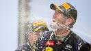 Mark Webber gets a champagn shower