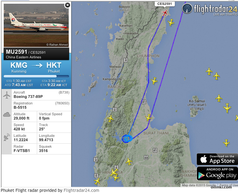 China Eastern Airlines plane flight to Phuket rerouted to Bangkok due bad weather