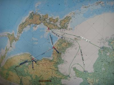 沿海州逆さ地図