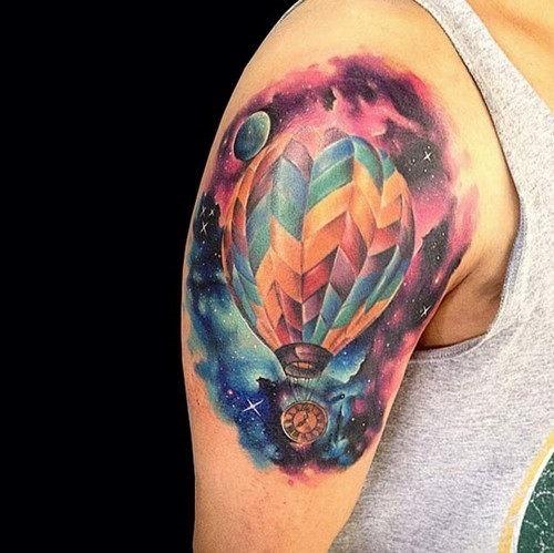 esta_galxia_de_balo_de_ar_quente_tatuagem
