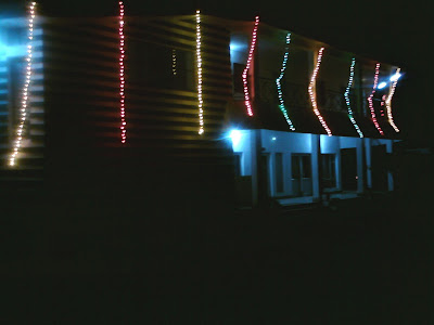 The river view rest house at Birahi on the Diwali Night - Enroute to Badrinath