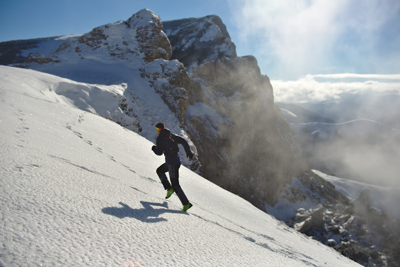 Andrei in actiune, a se nota adidasii de alergare din picioare ce se pare ca au rezistat si pe astfel de temperaturi.