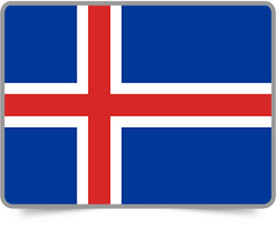 Icelandic framed flag icons with box shadow