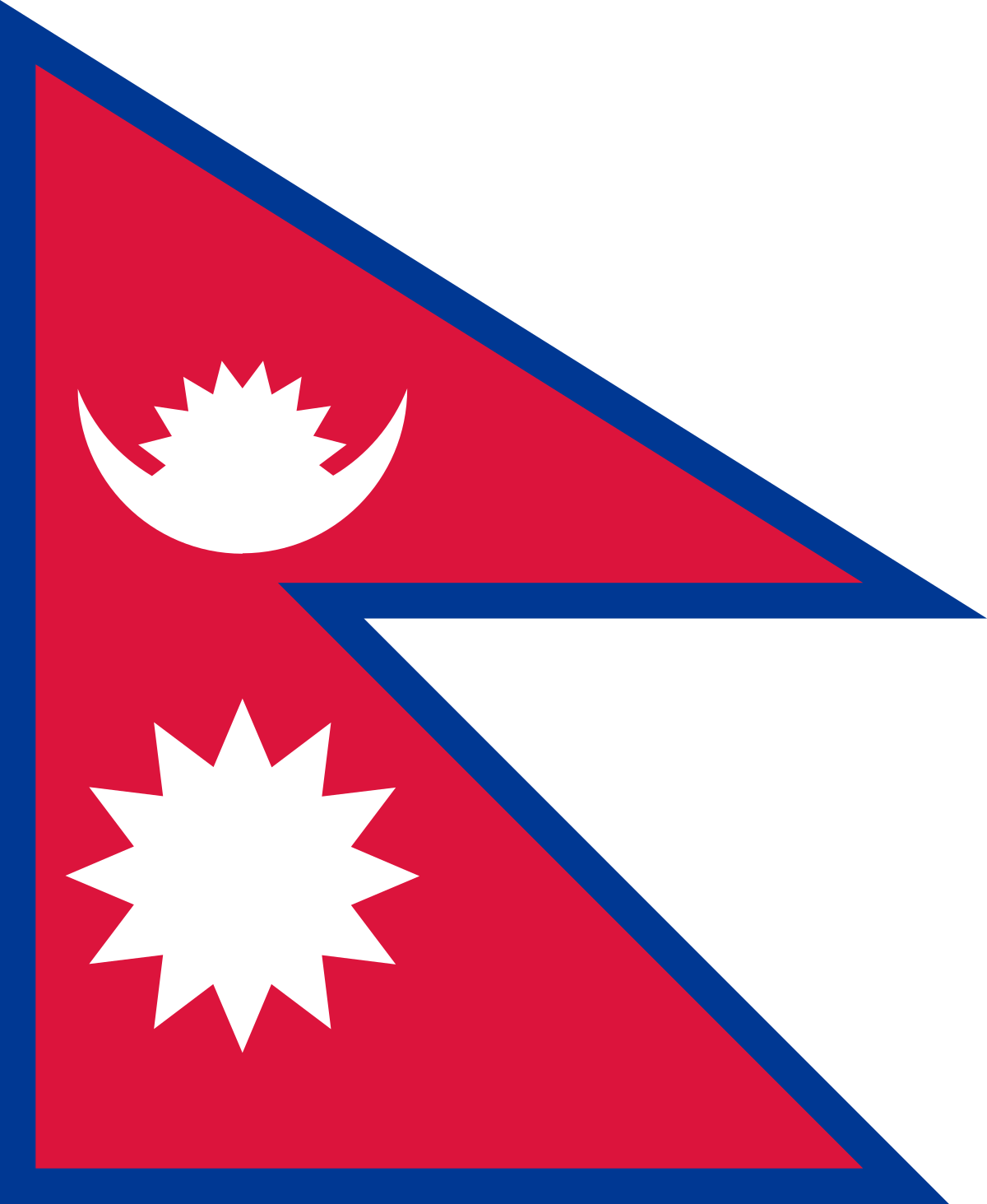Nepal has the most mathematical flag in the world. It even has an article in its constitution that details the steps of drawing the flag