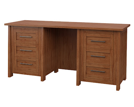 Syracuse Executive Desk in Vermont Maple