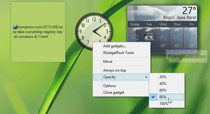 gadget jam di windows 8.1