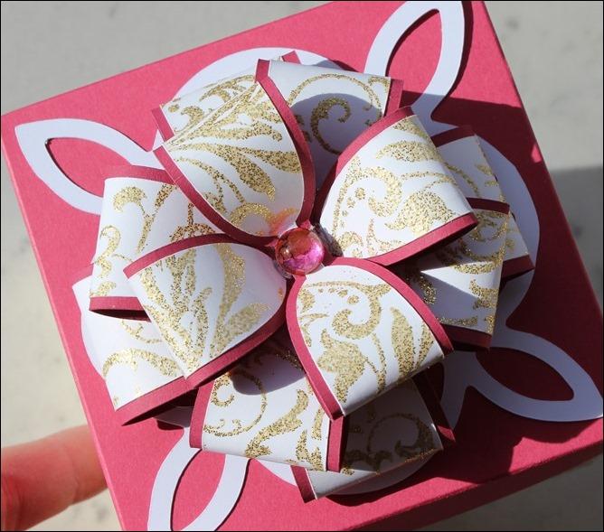 Explosion Box Weihnachten Christmas Gold Glitzer Karussell Stampin Up Zum Nachwuchs Weihnachtsschlitten 01