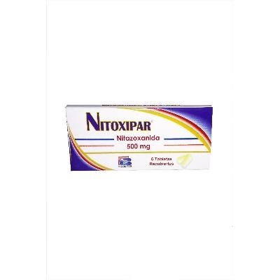 nitazoxanida nitoxipar 500mg 6tabletas bioquifar Bioquifar