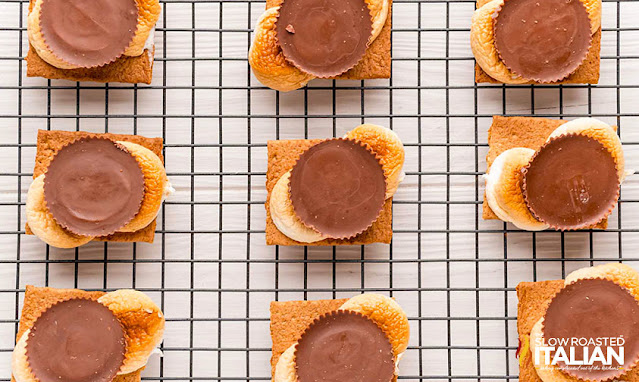 peanut butter smores on a cooling rack