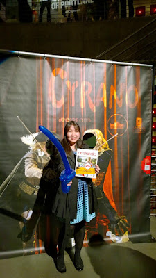 Opening Night the Portland Center Stage production of Cyrano included balloon swords, ha ha