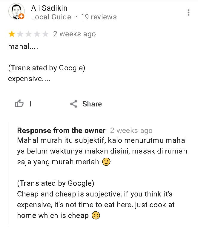 Review Bintang 1 restoran Alam Desa Bandung