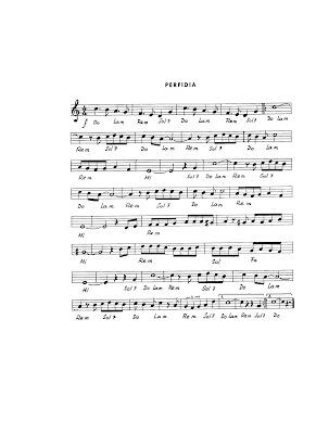 Perfidia Bolero de Los Panchos, Luis Miguel, Nat king Cole y Glenn Miller Partitura de la perfidia, letra y acordes.