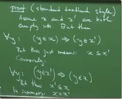 physics set theory axioms FZ 7