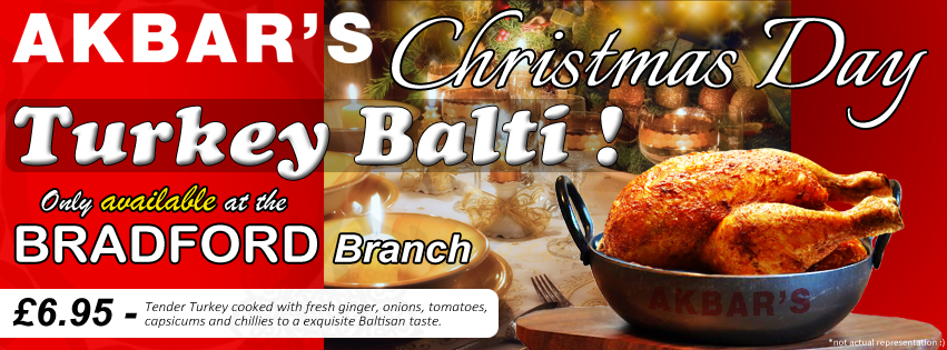 bradford branch only christams day turkey balti