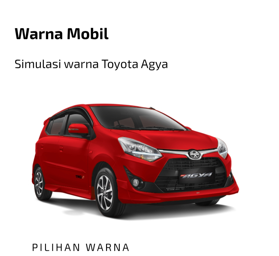 Toyota All New Agya merah