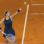 STUTTGART, GERMANY - APRIL 18 : Laura Siegemund in action at the 2016 Porsche Tennis Grand Prix