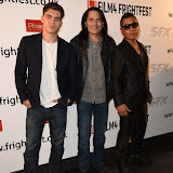 OIC - ENTSIMAGES.COM - Zane Holtz, J LaRose and Rudy Youngblood  at the Film4 Frightfest on Friday of   Wind Walkers UK Film Premiere at the Vue West End in London on the 28th August 2015. Photo Mobis Photos/OIC 0203 174 1069