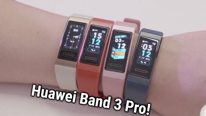 Huawei Band 3 Pro với khả năng chống nước tốt